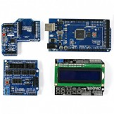 SainSmart MEGA, ATmega2560 + SainSmart LCD Keypad Shield + SainSmart XBee Shield + SainSmart Sensor Shield V5 For Arduino