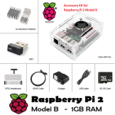 Raspberry Pi 2 B Accessory Kit - Wifi, HDMI, Clear Case, Breadboard, SD Card