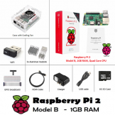 SainSmart Raspberry Pi 2 Basic Kit with Case with Fan + 8GB SD + Wifi + Breadboard + HDMI
