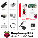 "Raspberry Pi 2 Model B Complete Starter Kit - Case, 5"" LCD, HDMI + Accessories"