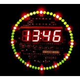 SainSmart DIY-DS1302-Rotating-LED-Electronic-Digital-Clock-Kit-51-SCM-Learning-Board-5V-xp