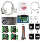 CNC 4-Axis Kit 1 with TB6560 Motor Driver, Breakout Board, Nema23 270 Oz-in Motor and 24V Power Supply