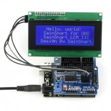 SainSmart UNO R3 Improved Version+IIC LCD2004+Sensor Shield V5 for Arduino UNO R3 Duemilanove Nano Robot