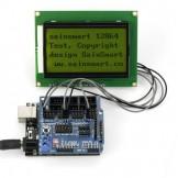 SainSmart UNO R3+ Sensor V5 + LCD12864 Yellow for Arduino UNO MEGA R3 Mega2560 Duemilanove Nano Robot