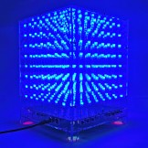 SainSmart 3D LightSquared DIY Kit 8x8x8 5mm LED Cube White LED Blue Square Music MP3 Lamp