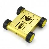 SainSmart 4WD Drive Aluminum Mobile Robot Platform for Robot Arduino Raspberry Pi *Gold*