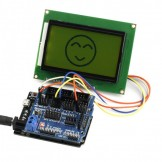 SainSmart Leonardo R3+12864 LCD Yellow+Sensor Shield V5 Kit For Arduino AVR ATmega8U2