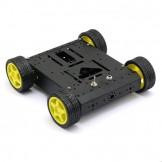 SainSmart 4WD Chassis Aluminum Mobile Robot Platform For Robot Arduino Raspberry Pi *Black*