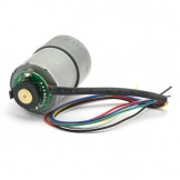 29:1 Metal Gearmotor 37Dx52L mm with 64 CPR Encoder 12V 365rpm