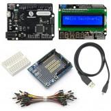 SainSmart Leonardo R3+1602 LCD Keypad Shield+Prototype Shield V3 Kit For ATMEL ATMEGA8U2 AVR
