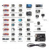SainSmart 37 in 1 Sensor Modul Kit + UNO R3 ATmega328P for Arduino Compatible & RPI
