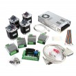 CNC 5-Axis Kit 3 with TB6600 Motor Driver Mach3, Breakout Board, Nema23 270 oz-in Stepper Motor and 24V Power Supply