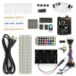 SainSmart UNO R3 MEGA328P-AU SMD Starter Kit with 16 Basic Arduino Tutorial Projects for Beginner