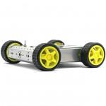 SainSmart 4WD Drive Aluminum Mobile Robot Platform for Robot Arduino Raspberry Pi *Silver*