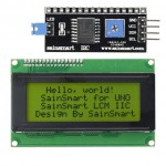 SainSmart IIC/I2C/TWI Serial 2004 20x4 Yellow LCD Module Shield For Arduino UNO MEGA R3