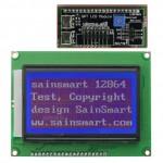 SainSmart 12864 128x64 Graphic Blue LCD Display Module Backlight For Arduino AVR