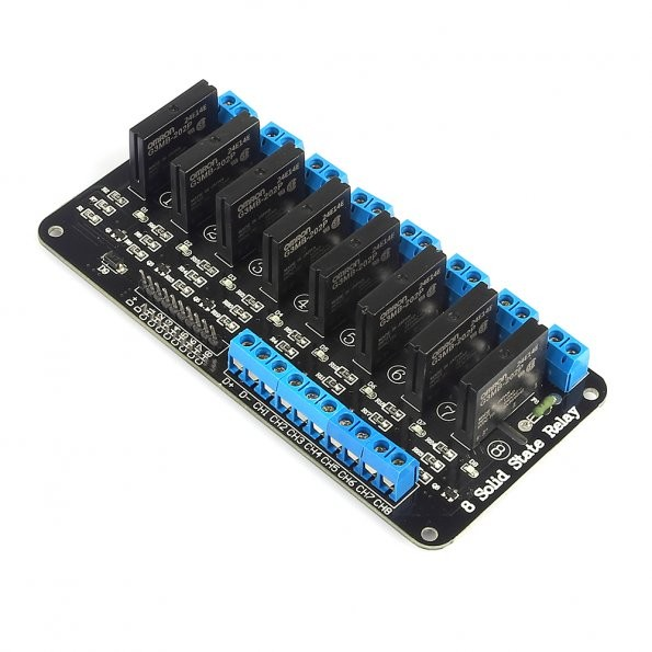 sainsmart high level trigger 8 channel 5v solid state relay module board ssr 3d printing