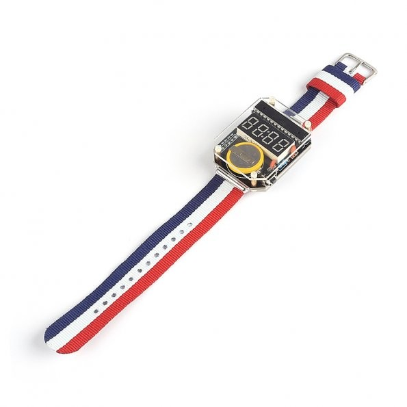 Sainsmart new electronic crystal table watches diy kit for