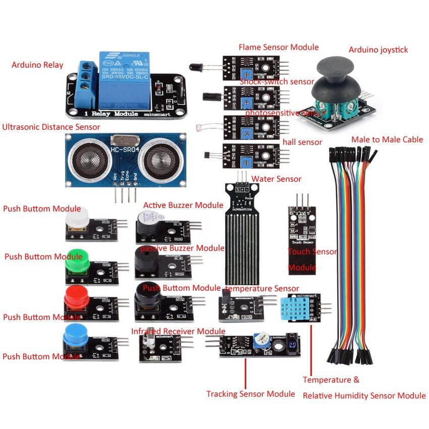 sainsmart sensor modules starter kit for arduino uno mega lcd relay mcu 3d printing arduino