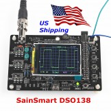 "SainSmart DSO138 2.4"" TFT Digital Oscilloscope Kit DIY parts 1Msps +Probe"