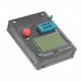 SainSmart 12864 Pocketable Transistor Tester Capacitance ESR Diode Triode Triac MOS Meter LCR-T3 Black