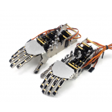 DIY 5DOF Robot Humanoid Five Fingers Metal Manipulator Arm Right / Left Hand w/Servos for Robot