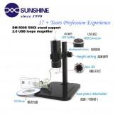 SainSmart DM-500S 5X-500X 2MP 8-LED 3D Zoom Digital USB Microscope