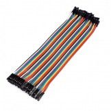 40PCS Dupont wire jumpercables 21cm 2.54MM Female to Female for Arduino