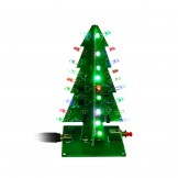SainSmart Christmas Tree LED Flash Kit 3D DIY Electronic Learning Kit Colorful lights without case 7colors