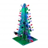 SainSmart 3D Christmas Trees LED DIY Kit Flash LED Circuit without case 3 colors