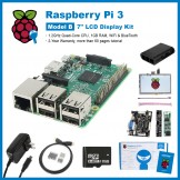 "SainSmart Raspberry Pi 3 Complete LCD Kit : 7"" inch Touch Screen LCD + Case + SD Card + HDMI + HeatSinks + USB Charger"
