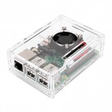 Transparent Clear Case Enclosure Box + Cooling Fan for Raspberry Pi 2 Model / B+