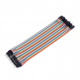 40PCS Dupont wire jumpercables 21cm 2.55MM Male to Male for Arduino