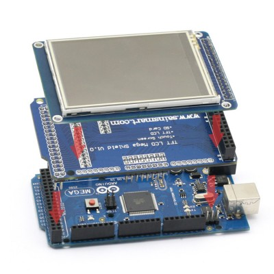 Arduino Due Pantalla, TFT 320 QVT , Shield CTE TFT Sd