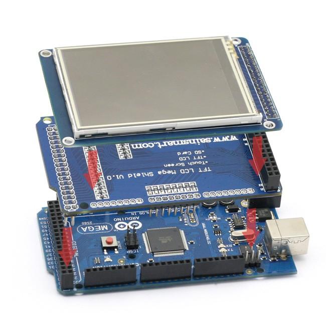 Sainsmart mega board tft lcd module display shield