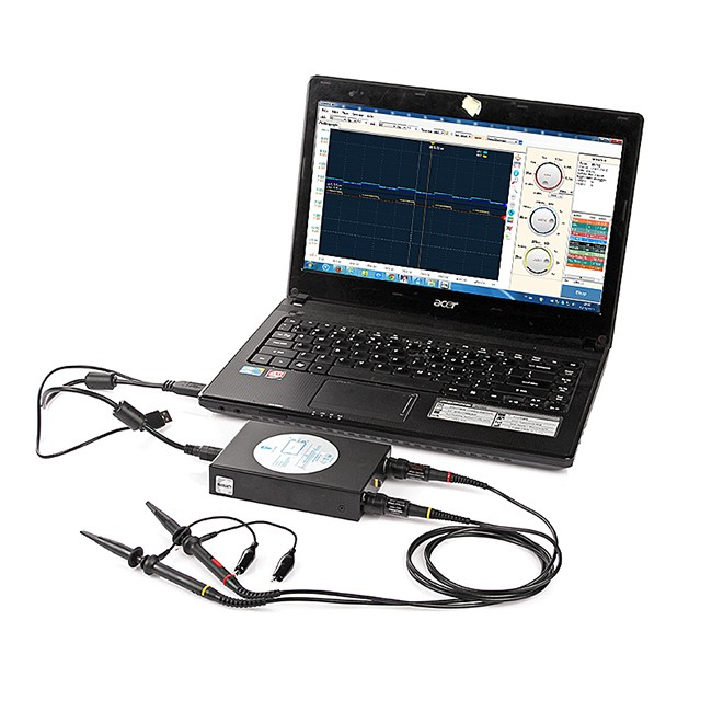 Sainsmart dds pc based black usb oscilloscope digital