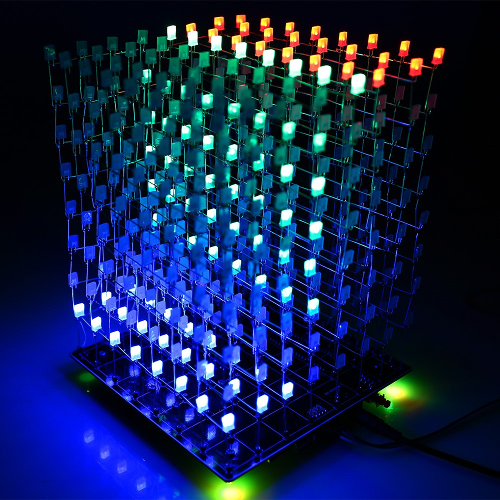 3d lightsquared 8x8x8 led cube instructions