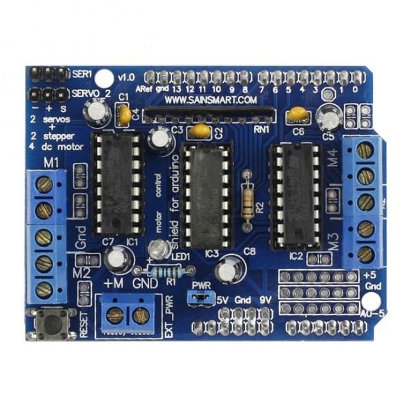 SainSmart L293D Motor Drive Shield For Arduino Duemilanove Mega UNO R3 AVR ATMEL 3D Printing ...