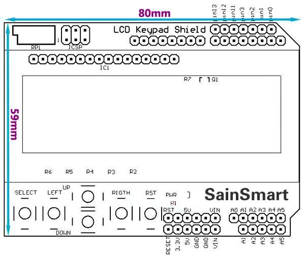 Sainsmart lcd keypad shield for arduino d printing